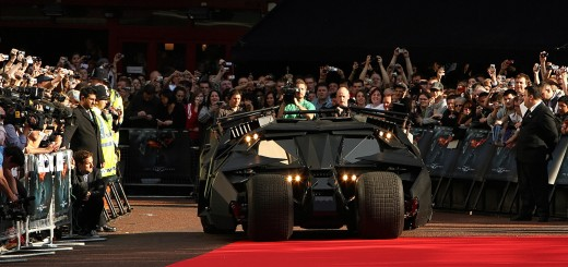 """The new batmobile arrives at the European premiere of the latest film in the Batman superhero film franchise, """"The Dark Knight"""", directed by Christopher Nolan on July 21, 2008 in London. The film sees British actor Christian Bale return as Batman with the late US actor Heath Ledger playing his nemesis """"The Joker"""". The film opens across the UK from the 24th of July. AFP PHOTO/Leon Neal (Photo credit should read Leon Neal/AFP/Getty Images)"""